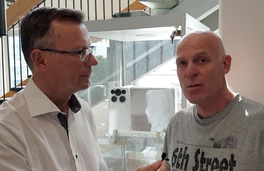 UiB President Dag Rune Olsen vlogs an interview with Centre leader Nikolai Østgaard