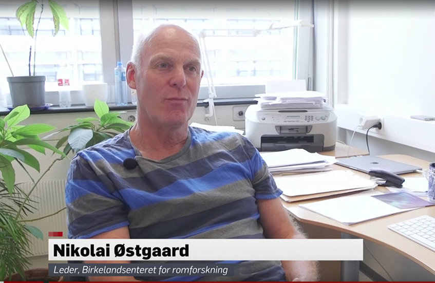 TV2 interviews Centre leader Østgaard on the outcome of the ASIM mission